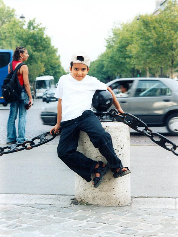 August 2003. At the base of Arc de Triomphe, Paris
