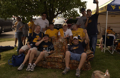 23236 WVU FOOTBALL VS EAST CAROLINA STATE ACTION SHOTS TAILGATING AND FANS