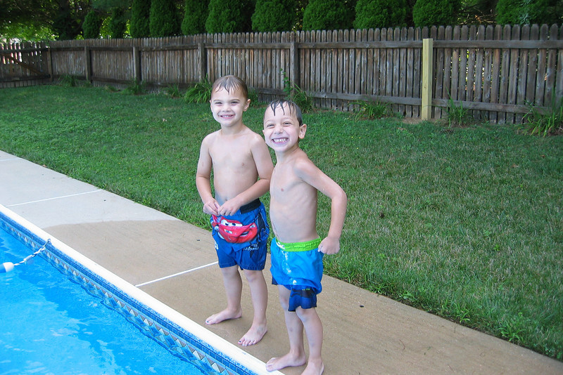 Getting ready to jump in the pool.