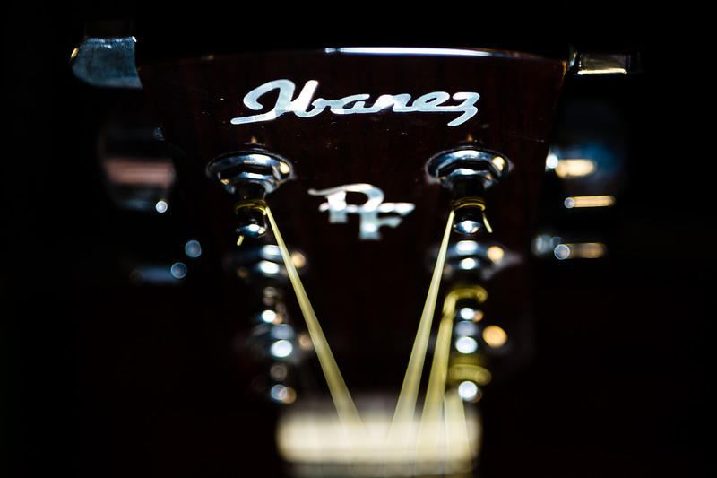 The Ibanez PF5L-NT-14-05 left handed acoustic guitar on Get Out Your Guitar Day, February 11, 2020. [JOSEPH FORZANO/palmbeachpost.com]