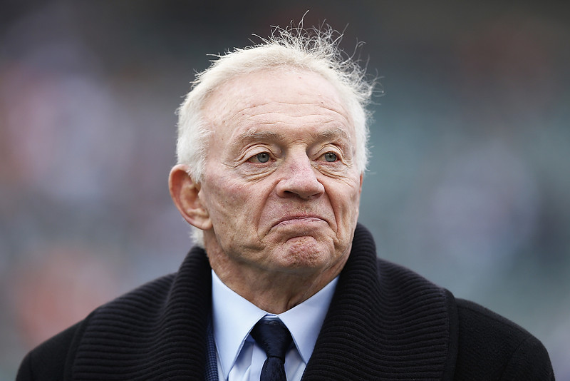 . Dallas Cowboys owner Jerry Jones looks on before the game against the Cincinnati Bengals at Paul Brown Stadium on December 9, 2012 in Cincinnati, Ohio. (Photo by Joe Robbins/Getty Images)