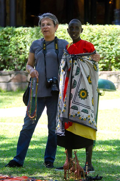With a Masai tribeswoman