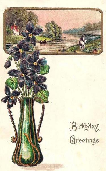 01 Birthday Post Card from Stella's namesake Aunt Clemmie, (front).jpg