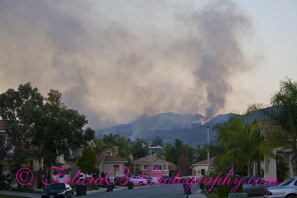 Santiago Canyon Fire 2007