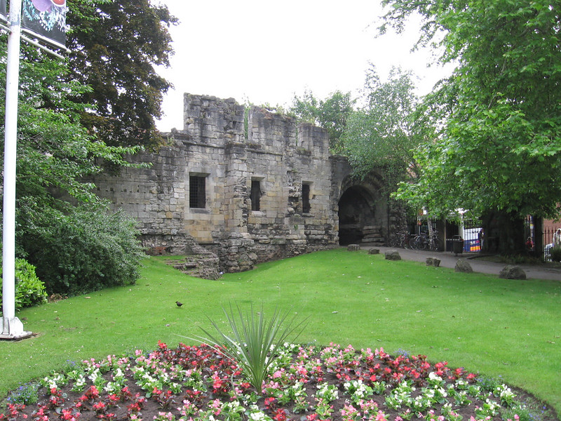 The Museum Garden and Abbey ruins, York