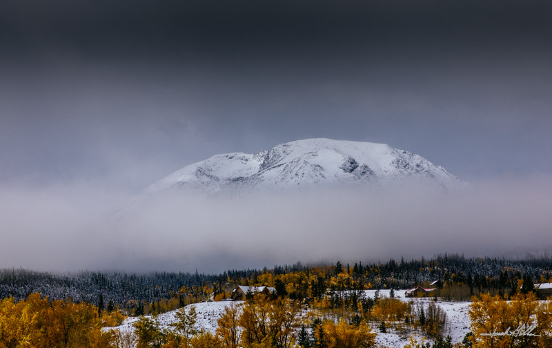 Buffalo Mountain in the Clouds