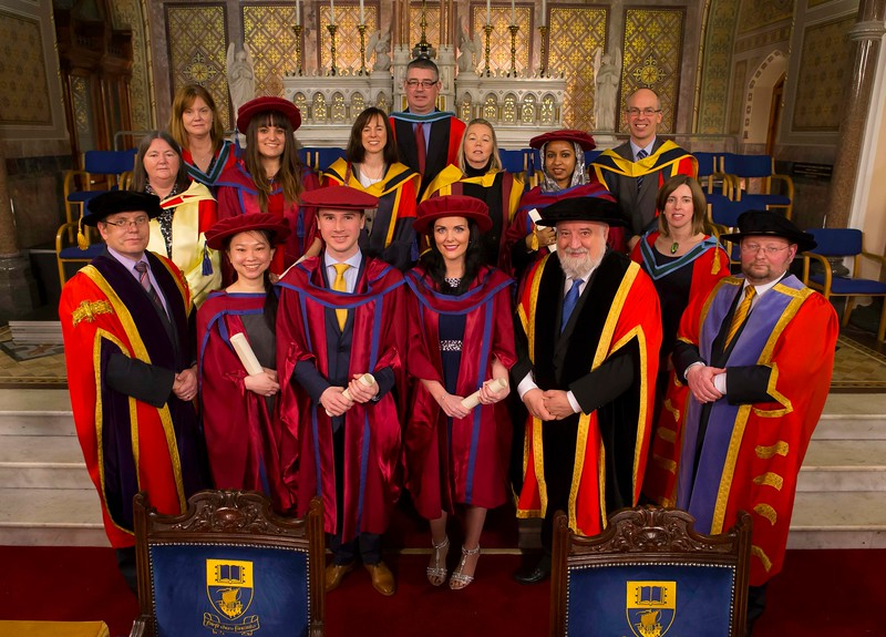 Waterford Institute Of Technology Conferring. Pictured at WIT Waterford Institute Of Technology Conferring are Reem Elsiddig, Waterford, Maria Luz Prieto, Waterford, David O'Niell, Kilkenny, Gemma McCarthy, Waterford, Shiau Pin Tan, Waterford who were conferred a Doctor of Philosophy. Picture: Patrick Browne