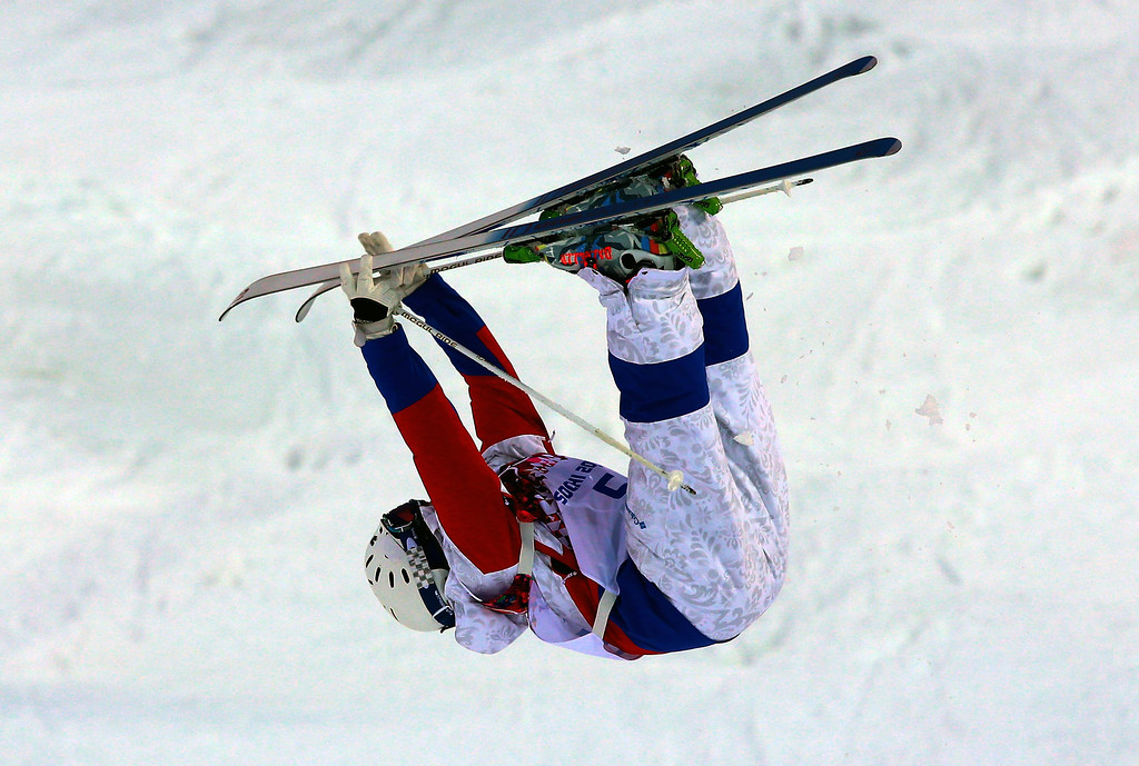 . Alexandr Smyshlyaev of Russia in action during  the Freestyle Skiing Men\'s Moguls Qualification 1 at the Sochi 2014 Olympic Games, Krasnaya Polyana, Russia, 10 February 2014.  EPA/JENS BUETTNER