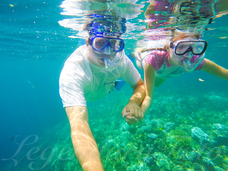 David and Ashlee Snorkeling