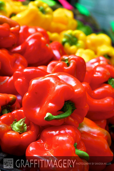 Autumn is the time for peppers  Every hot color under the sun