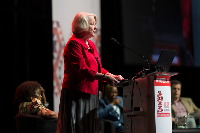 21st International AIDS Conference (AIDS 2016), Durban, South Africa. From Commitments to Action: Implications of the 2016 UN High Level Meeting on Ending AIDS (FRSS01) Outcomes of the HLM: what does it mean for the response?  Jan Beagle, UNAIDS Deputy Executive Director, Switzerland, 22 July, 2016. Photo©International AIDS Society/Rogan Ward