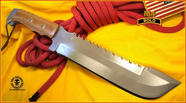 Relentless Knives M4 Bolo Tactical Knife 1X912753C2897701N Complete
