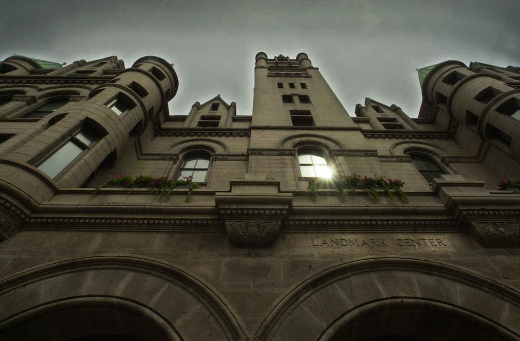 . St. Paul\'s Landmark Center, a former federal courthouse that usually doesn\'t look this eerie, is said to be haunted by notorious St. Paul speakeasy owner Jack Peifer. Peifer even �appeared� in a photo from a wedding held there in 2001. Or maybe it was just a blur caused by slow shutter speed. (Pioneer Press file photo)