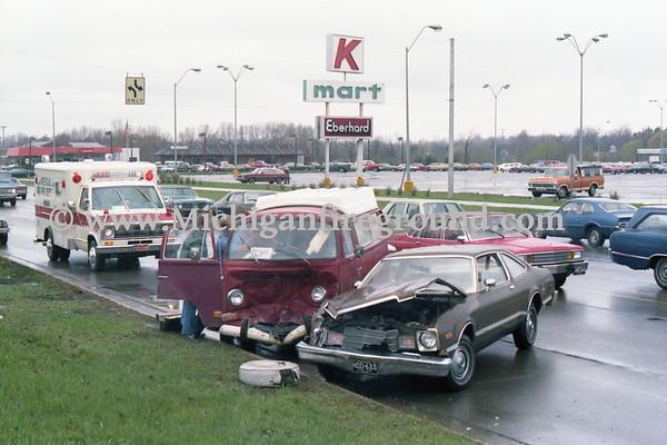 4/28/79 - Meridian Twp injury crash, Grand River west of Marsh Rd