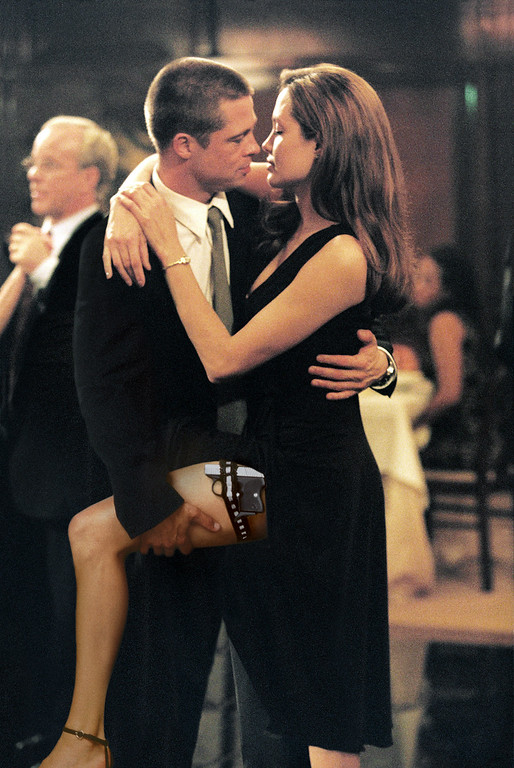 """. In this photo provided by Twentieth Century Fox,  As John Smith (Brad Pitt) and Jane Smith (Angelina Jolie) do a sexy tango, more of their secrets are uncovered in \""""Mr. & Mrs. Smith.\""""   (AP Photo/Twentieth Century Fox/Stephen Vaughn)"""