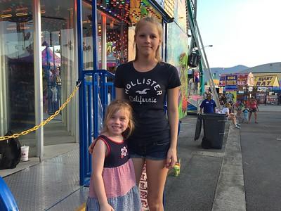 Salem Fair w/ Catrina and kids