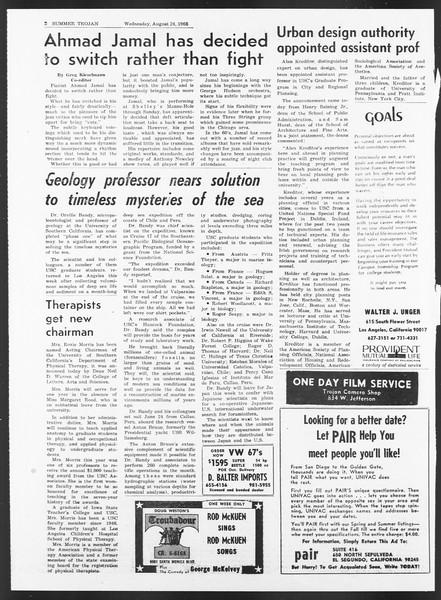 Summer Trojan, Vol. 17, No. 15, August 24, 1966