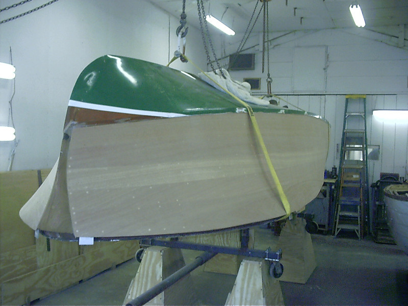 Starboard front view of plugs cut and side sanded.