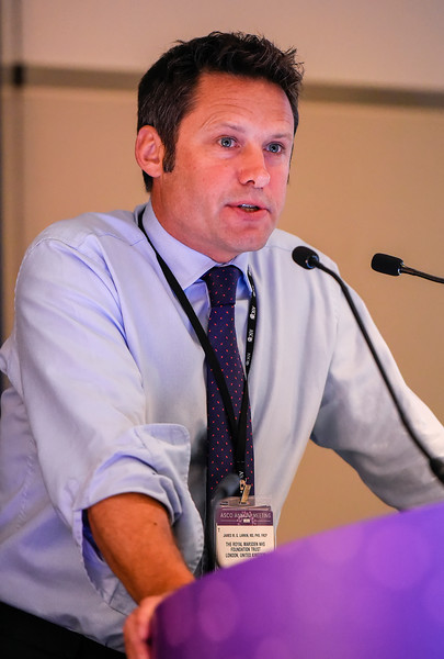 James M. G. Larkin, MD, PhD, FRCP, speaks during Real-World Issues Using Immunotherapy and Targeted Therapies in Melanoma