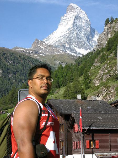 One bad ass about to get up the Matterhorn!