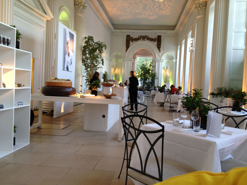 The palace orangery was our lunch and dinner site - formerly winter home to shrubbery of the royalty.