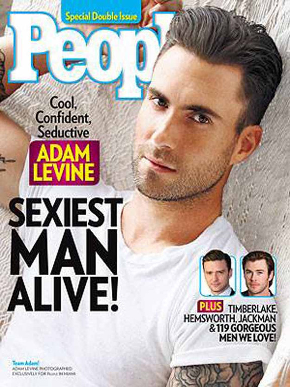 . Adam Levine was named People\'s Sexiest Man Alive of 2013.