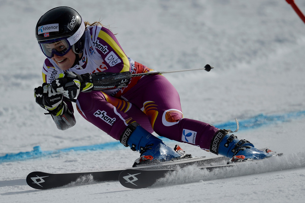 . BEAVER CREEK, CO - FEBRUARY 12: Nina Loeseth of Norway competes during the ladies\' giant slalom. FIS Alpine World Ski Championships 2015 on Thursday, February 12, 2015. (Photo by AAron Ontiveroz/The Denver Post)