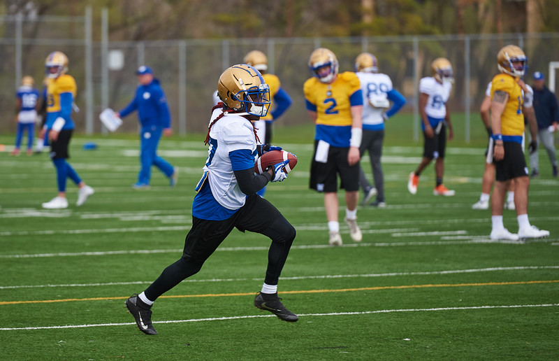 #87 Lucky Whitehead during Winnipeg Blue Bombers rookie camp Wednesday May 15, 2019.