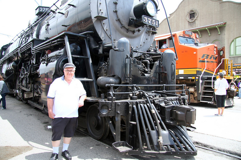 Bill standing in front of # 3751 a Baldwin built 4-8-4 Locomotive made in 1926.