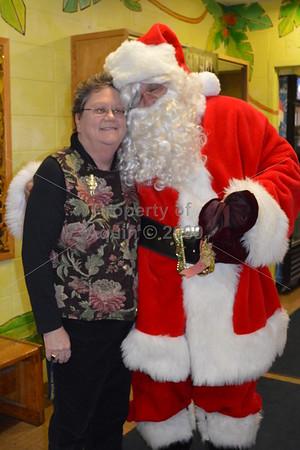 santa visits st. joe's campus . 12.19.13