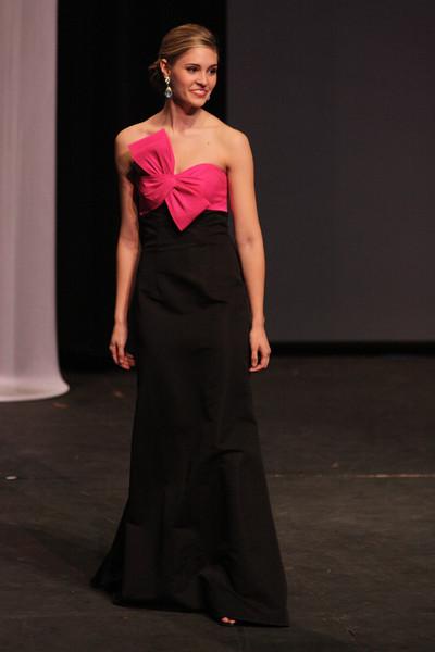 Sara Jolley in her evening gown