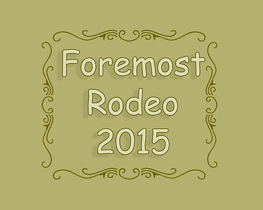 Foremost Rodeo 2015