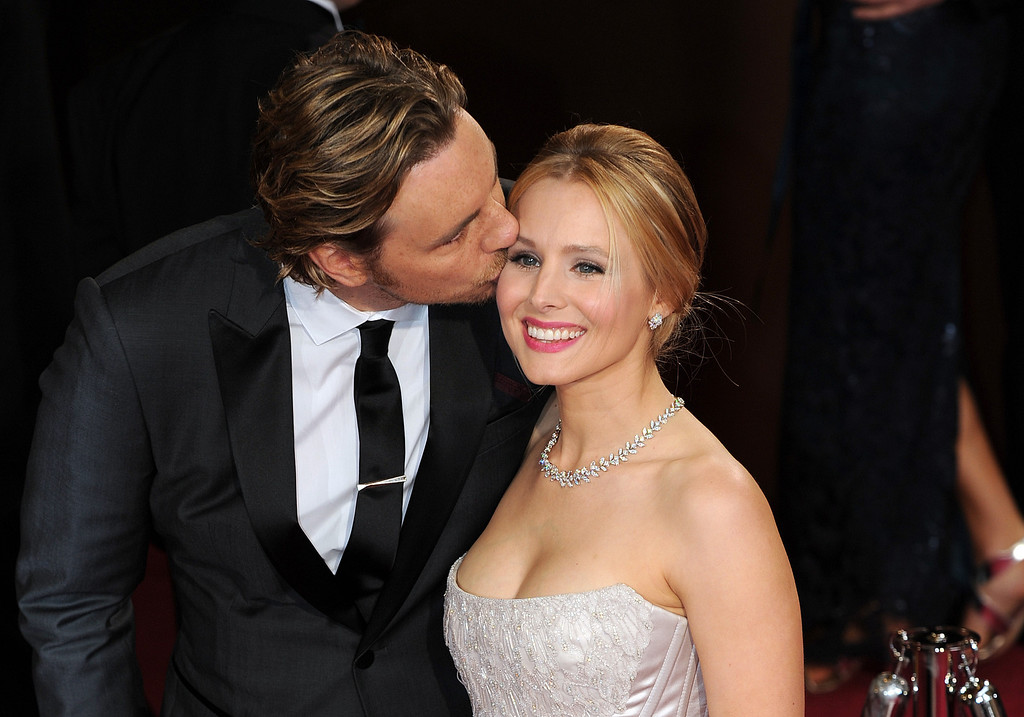 . Dax Shepard and Kristen Bell attend the 86th Academy Awards at the Dolby Theatre in Hollywood, California on Sunday March 2, 2014 (Photo by John McCoy / Los Angeles Daily News)