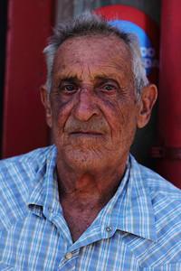Augusto Sousa Correia (Topo, São Jorge), born 1930, pictured outside the fire station in Topo. July 30, 2012.
