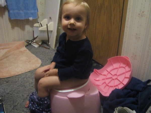 First time on the potty.