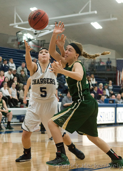 2014-01-16 bookmark, Hillsdale College Women's Basketball vs. Tiffin