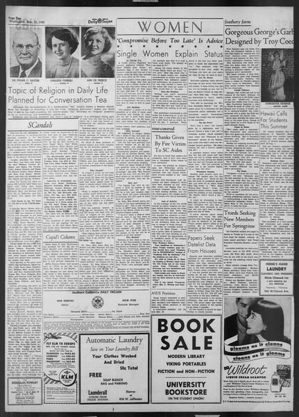 Daily Trojan, Vol. 43, No. 94, March 12, 1952