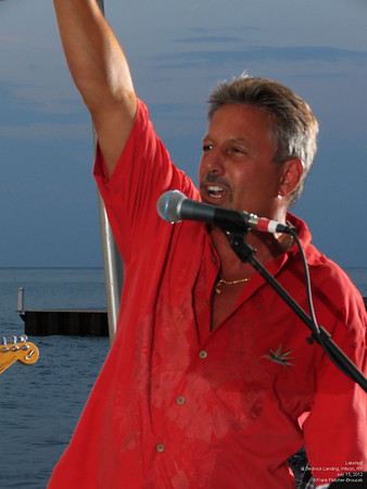 Rick and Mike Elia sing at Lakefest
