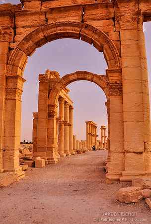 Ancient archway of Palmyra, Syria