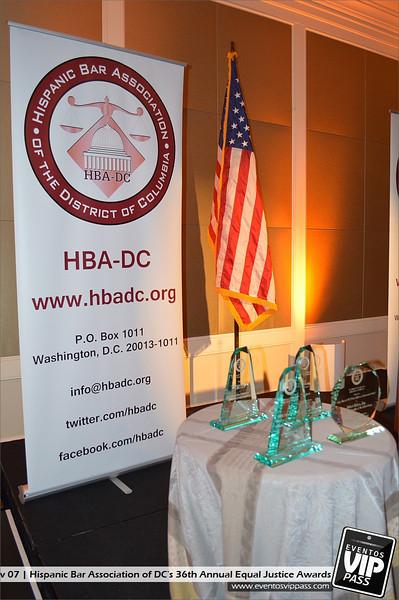 Hispanic Bar Association of DC's (HBA-DC) 36th Annual Equal Justice Awards | Thu, Nov 07