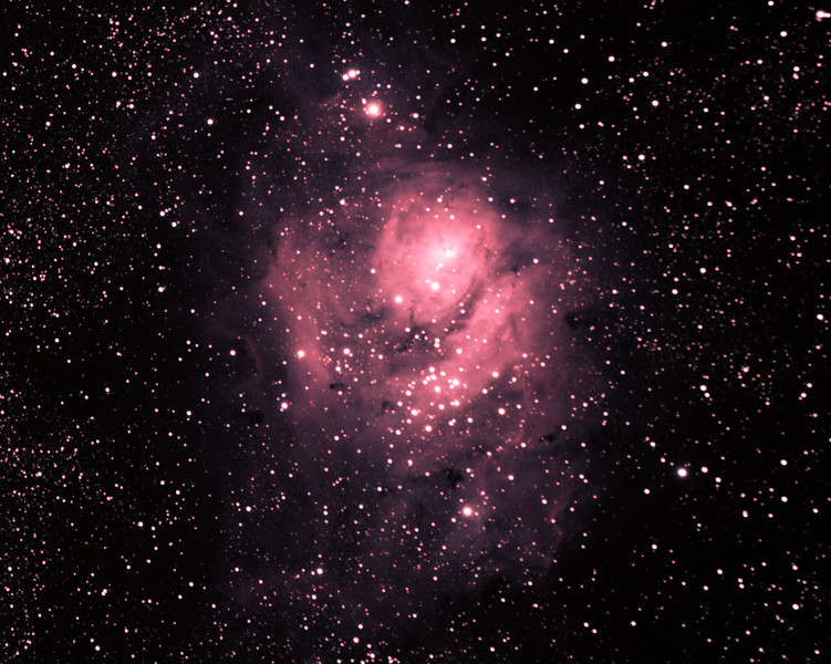 Messier M8 - NGC6523 - Lagoon Nebula and Cluster - 7/5/2011 (Processed cropped stack)