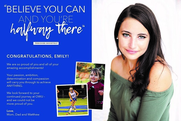 Senior Recognition Ad Examples