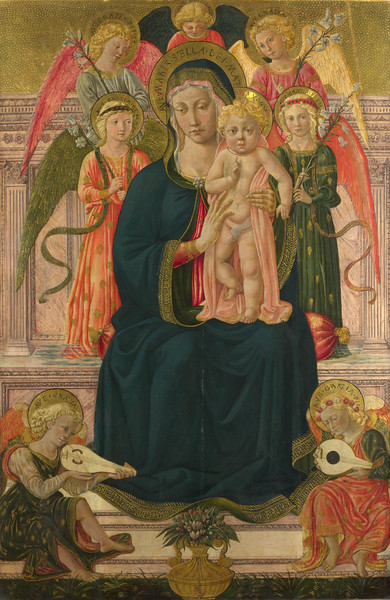 The Virgin and Child Enthroned with Angels