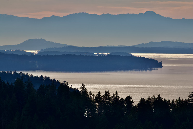 View from George Hill, North Pender Island