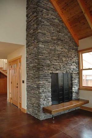 Wyrsch residence: fireplace
