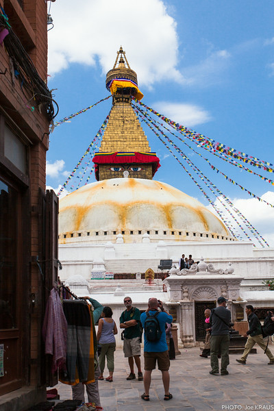 First view of Boudhanath