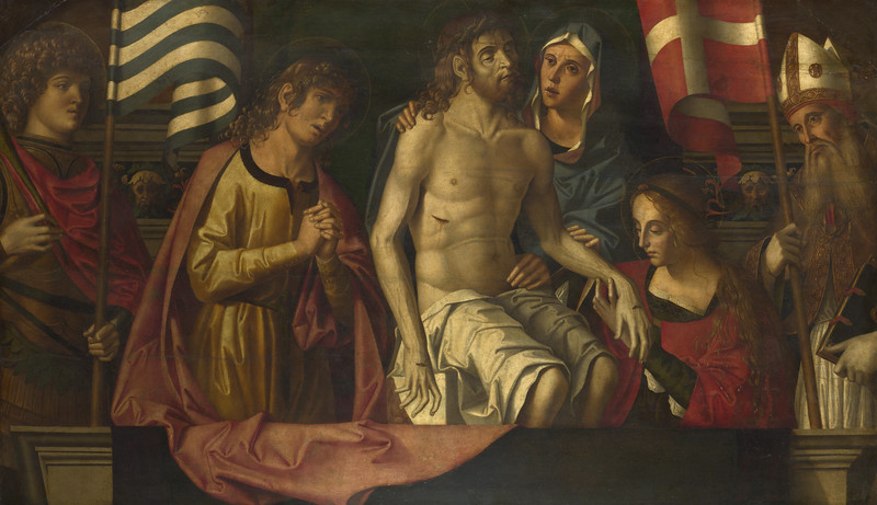 The Dead Christ with the Virgin and Saints