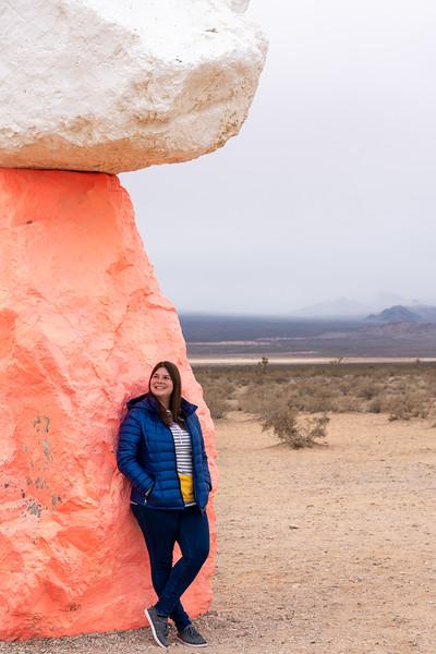 Amanda at Seven Magic Mountains in Nevada