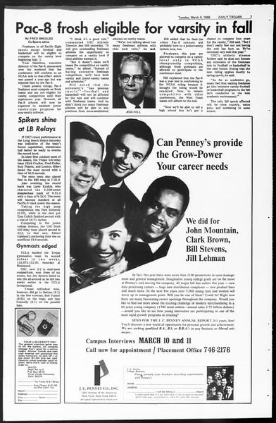 Daily Trojan, Vol. 60, No. 82, March 04, 1969