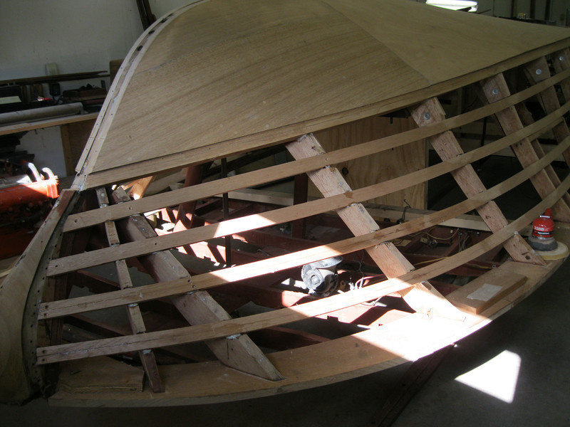 Front starboard view of new side battens.